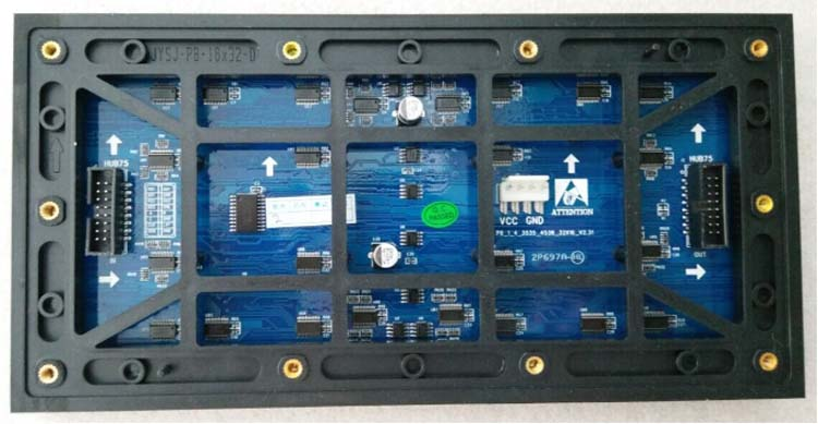outdoor p8 led module back face